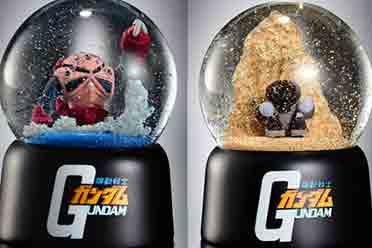 万代推出《机动战士高达》夏亚专用座驾魔蟹雪景球